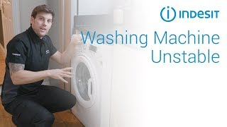How to stop an unstable/wobbling washing machine   by Indesit