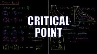 Chemical Thermodynamics 1.6 - Critical Point