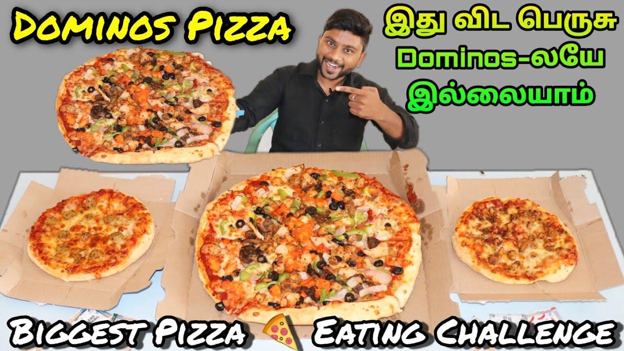 DOMINO'S LARGE SUPREME PIZZA & 2 REGULAR PIZZA EATING CHALLENGE | Eating Challenge Boys