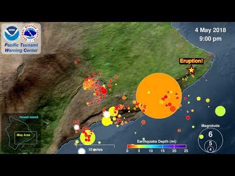 Kilauea Seismicity and Eruption 2018