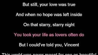 Vincent - Karaoke
