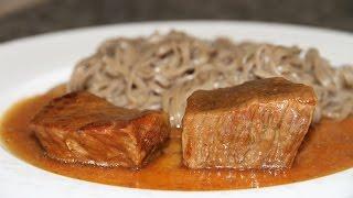 ГОВЯДИНА С ЛУКОМ ТУШЕНАЯ В ПИВЕ BEEF AND ONIONS BRAISED IN BEER