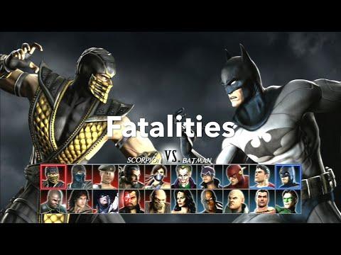 Mortal Kombat Vs DC Universe Fatalities PS3