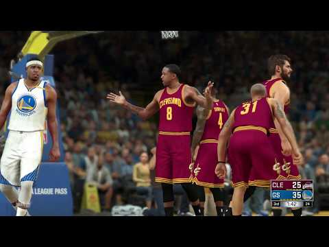 NBA 2K17 - Golden State Warriors vs Cleveland Cavaliers in NBA Finals Simulation (Best of 7) Part 1
