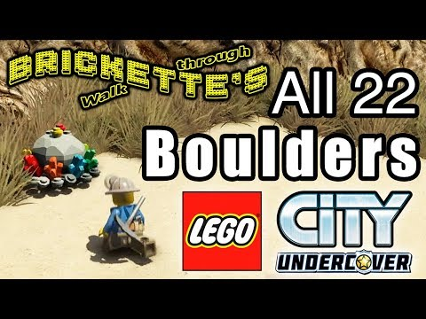 All 22 Boulders Destroyed in LEGO City: Undercover (Miner) for Precious Boulders/Rocks
