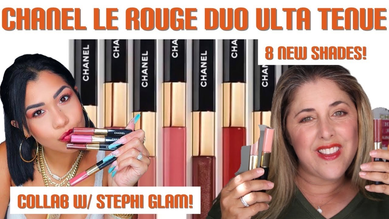 Chanel Le Rouge Duo Ultra Tenue Ultrawear Liquid Lip Colour All New 8 Shades Collab Stephi Glam Youtube