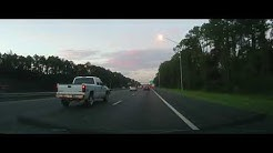 Driving around Jacksonville, Florida during Morning Rush Hour