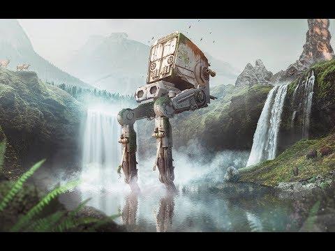 Photoshop Speed Art - The Last AT-ST (Star Wars) #speedart