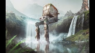 Photoshop Speed Art - The Last AT-ST (Star Wars) #speedart