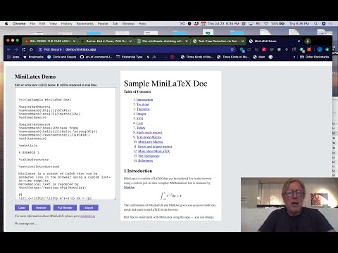 MiniLaTeX: Compile LaTeX To HTML In The Browser