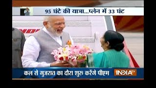 PM Narendra Modi returns from 3 nation's tour in Delhi