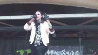 chris motionless amazing speech at warped tour 2012 atlanta georgia