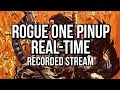 Recorded Twitch stream - Star Wars Rogue One pinup - a Photoshop digital coloring video