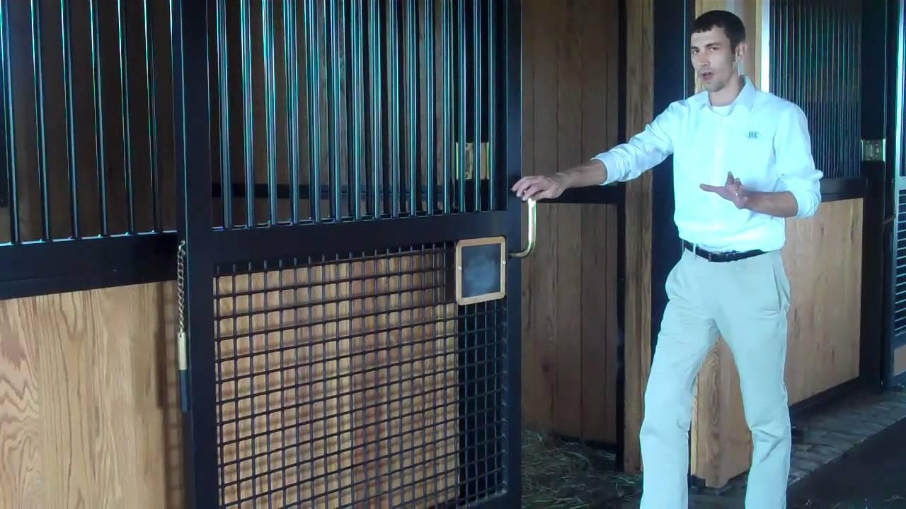 Lucas Equine Equipment Sliding Horse Stall Doors Youtube