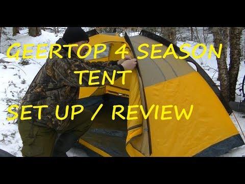 Geertop 4 Season Tent Set Up and Review & Geertop 4 Season Tent Set Up and Review - YouTube
