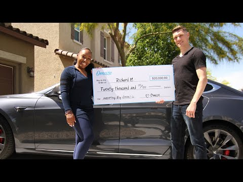 This Omaze Winner Won A Tesla Model S P100D For $50 // Omaze