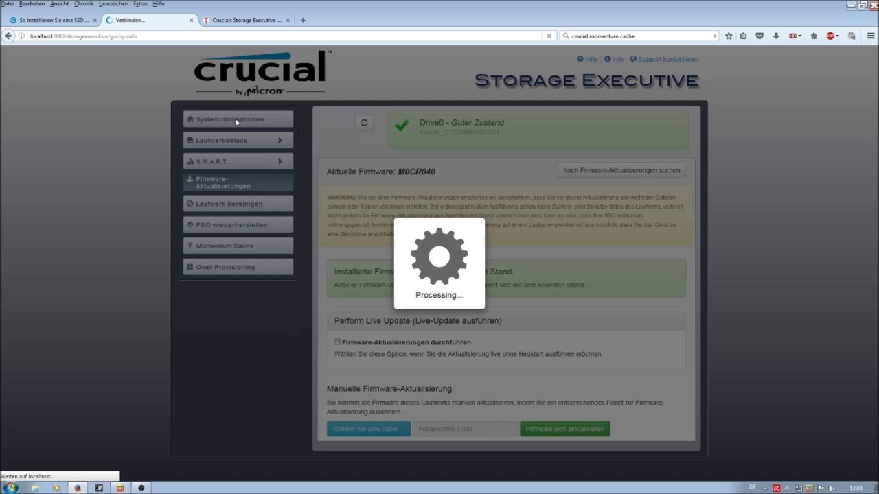 crucial mx100 firmware update mac