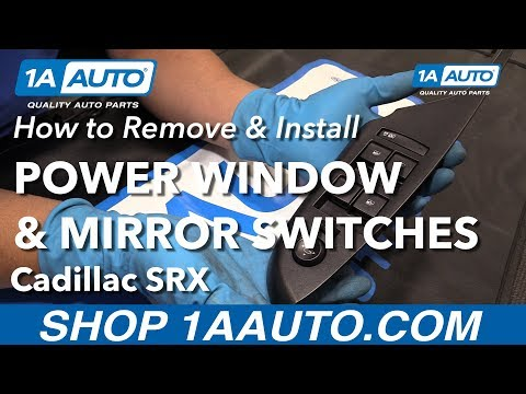 How to Replace Master Window Switch 10-16 Cadillac SRX