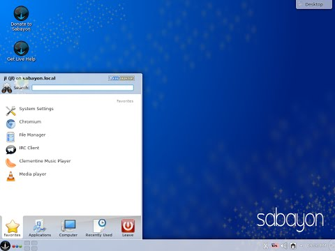 Sabayon Linux 15.02.1 KDE amd64. Install and brief review.
