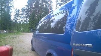 Volkswagen Transporter T5 2006 vetokoukun asennus