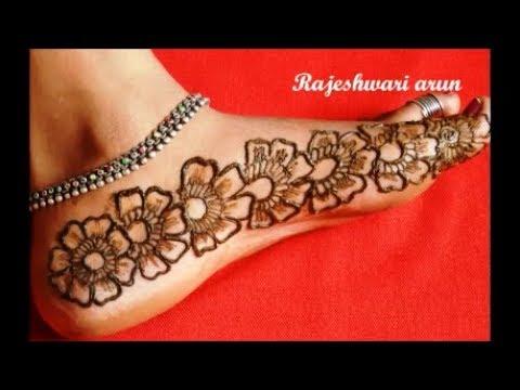 Simple Arabic Mehndi Henna Designs For Feet New Latest Mehndi