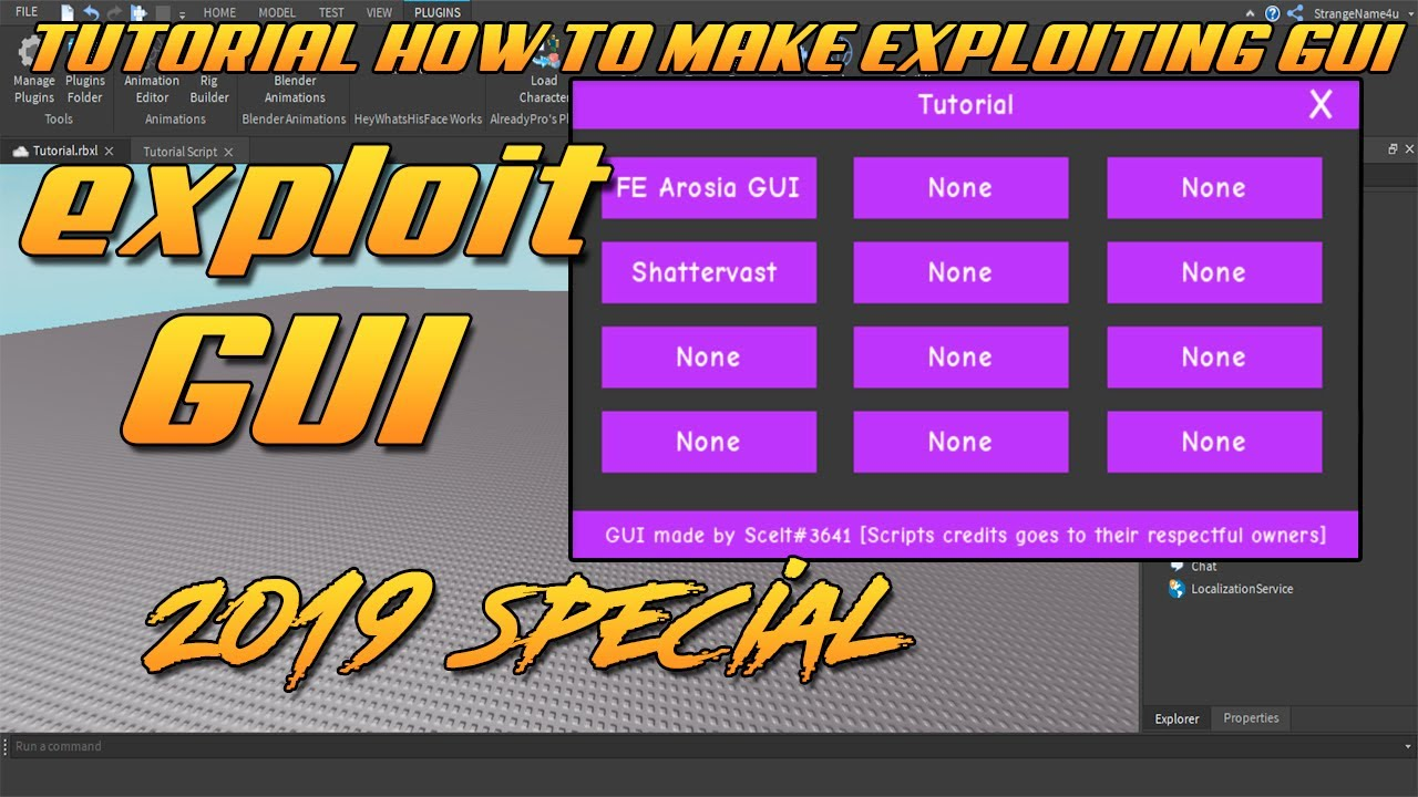 How To Make A Roblox Exploit Gui Date 1 1 2019 Youtube
