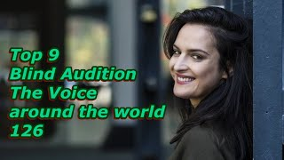 Top 9 Blind Audition (The Voice around the world 126)
