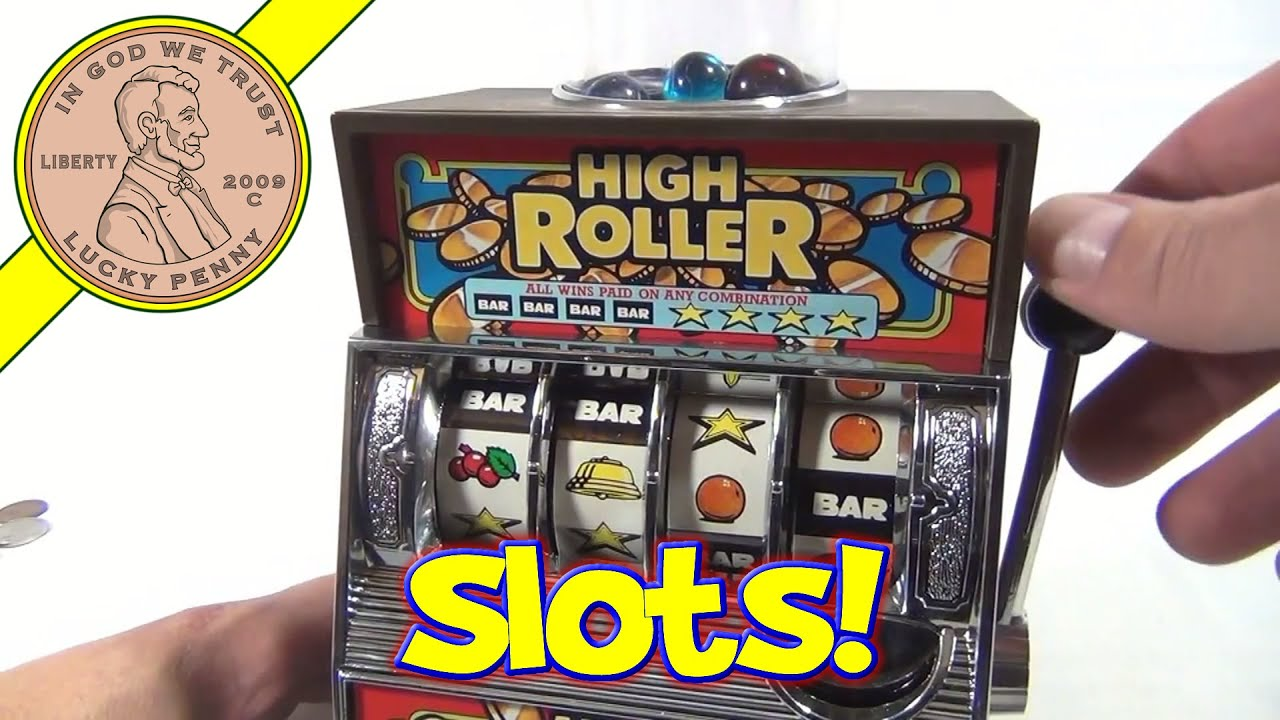 Toys R Us Slot Machines : High roller bank slot machine and gumball dispenser youtube