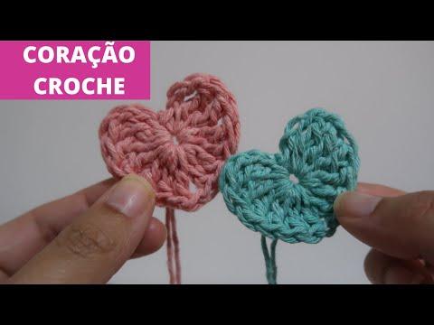 CORAÇÃO EM CROCHÊ FÁCIL DE FAZER