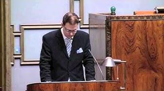 Olli Immosen puhe eduskunnan täysistunnossa 6.9.2011