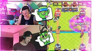 NICK & MOLT - Hilarious Clash Royale moments!!