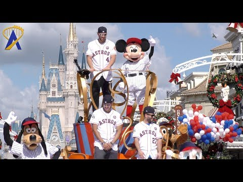 Houston Astros players get World Series victory parade at Walt Disney World