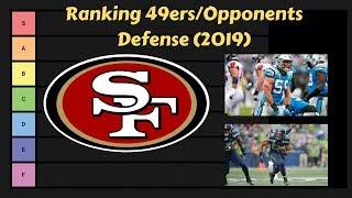 49ers vs Opponents Defense Ranking 2019 | NFL Tier List