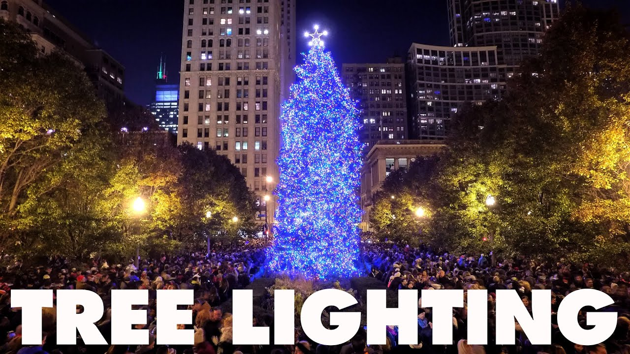 chicago s 102nd christmas tree lighting ceremony youtube