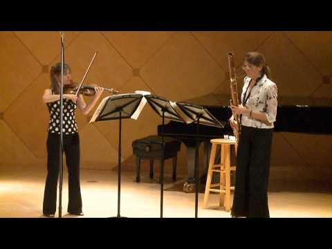 IDRS Video - Judith Farmer, bassoon • Sara Parkins, violin - Wolfgang