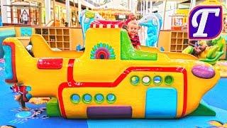 Игры на Детской Площадке в Торговом Центре – Сказочно Красивая Площадка Для Детей VLOG entertainment