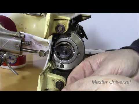 Если носик челнока не зацепит петлю, то появятся пропуски. Видео № 354.