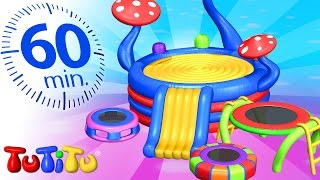 Repeat youtube video TuTiTu Specials | Trampoline | And Other Energy - Burning Toys | 1 HOUR Special