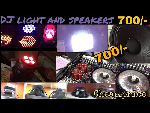 CHEAP PRICE BRAND NEW DJ LIGHT JUST 700/-| DJ cheap electronic market | DJ speakers market in delhi