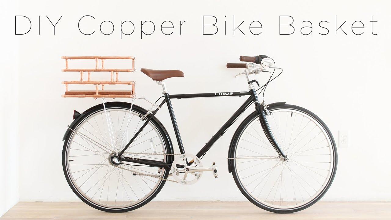 DIY Copper Bike Basket - YouTube