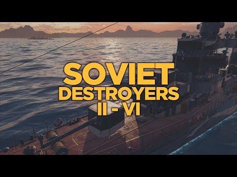 World of Warships - Soviet Destroyers II-VI
