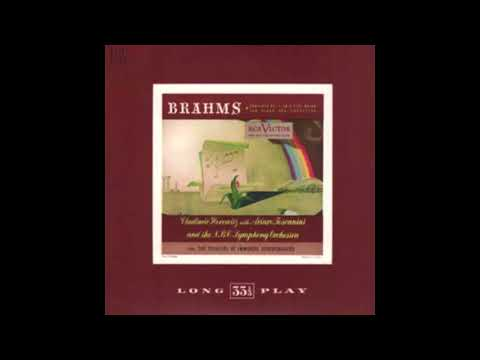 BRAHMS: Piano Concerto No. 2 in B flat major op. 83 / Horowi