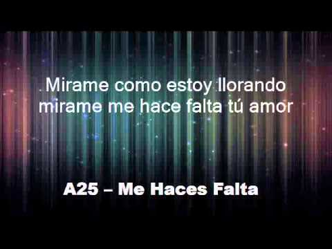 Me Haces Falta - A25