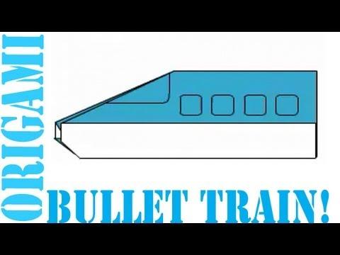 Origami Bullet Train Easy For Kids