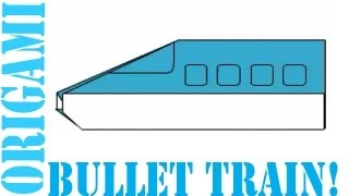Origami Daily - 271: Bullet Train (easy Origami For Kids) - Tcgames [hd]