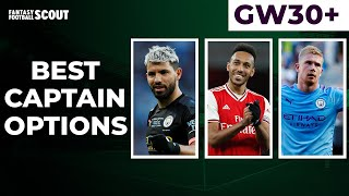 BEST CAPTAINCY OPTIONS DOUBLE GAMEWEEK 30 FANTASY PREMIER LEAGUE TIPS 201920