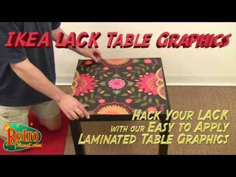 DIY IKEA LACK Table Graphics From Retro Planet