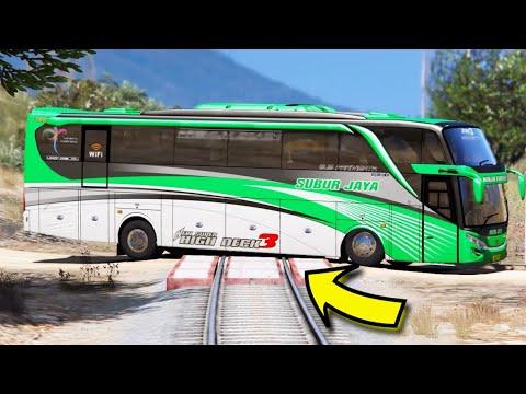 Seberapa Hancur Bus Scania SHD High Deck?? Di Tabrak Kereta!!
