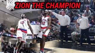Zion Williamson SALUTES Heckler In CHAMPIONSHIP WIN! Drops A Light 42 POINTS