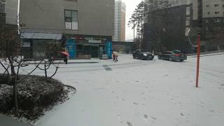 눈이 많이 왔어요